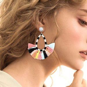 Jewelry - Colorful tassel earrings